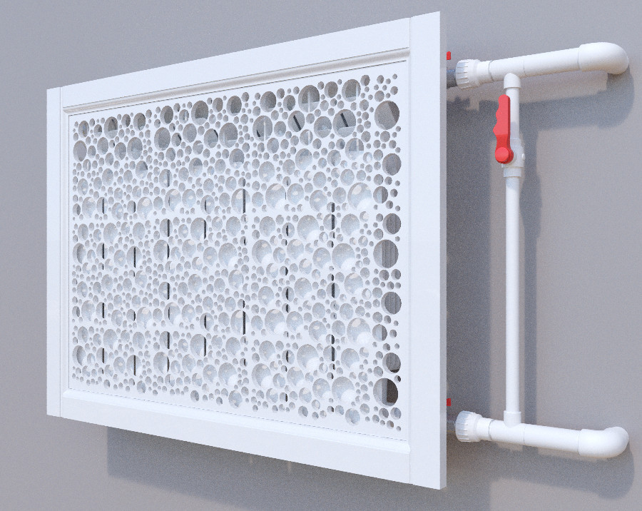 Декоративная решетка на батарею SMARTWOOD | Экран для радиатора | Накладка на батарею 600*600 Решетка с