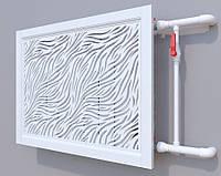 Декоративная решетка на батарею SMARTWOOD   Экран для радиатора   Накладка на батарею Короб, Покраска RAL,