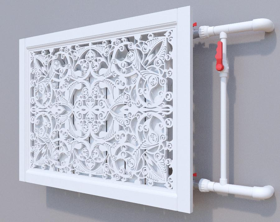 Декоративная решетка на батарею SMARTWOOD | Экран для радиатора | Накладка на батарею Решетка с крышкой,