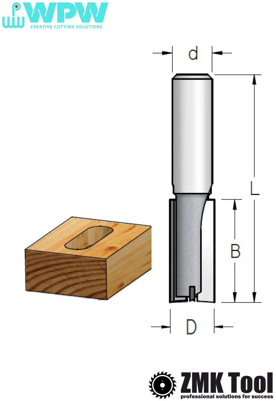 Фреза WPW прямая пазовая S=12 D=14x25x67 Z=2+1 с врезным зубом