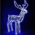Олень новогодний светящийся 95см,Олень светящийся поворотом головы синий,Светодиодный олень, фото 2