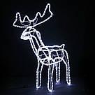 Олень новогодний светящийся 95см,Олень светящийся поворотом головы синий,Светодиодный олень, фото 3