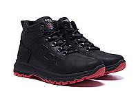Мужские зимние кожаные кроссовки Reebok Black leather (реплика). Мужские кроссовки. Мужская зимняя обувь