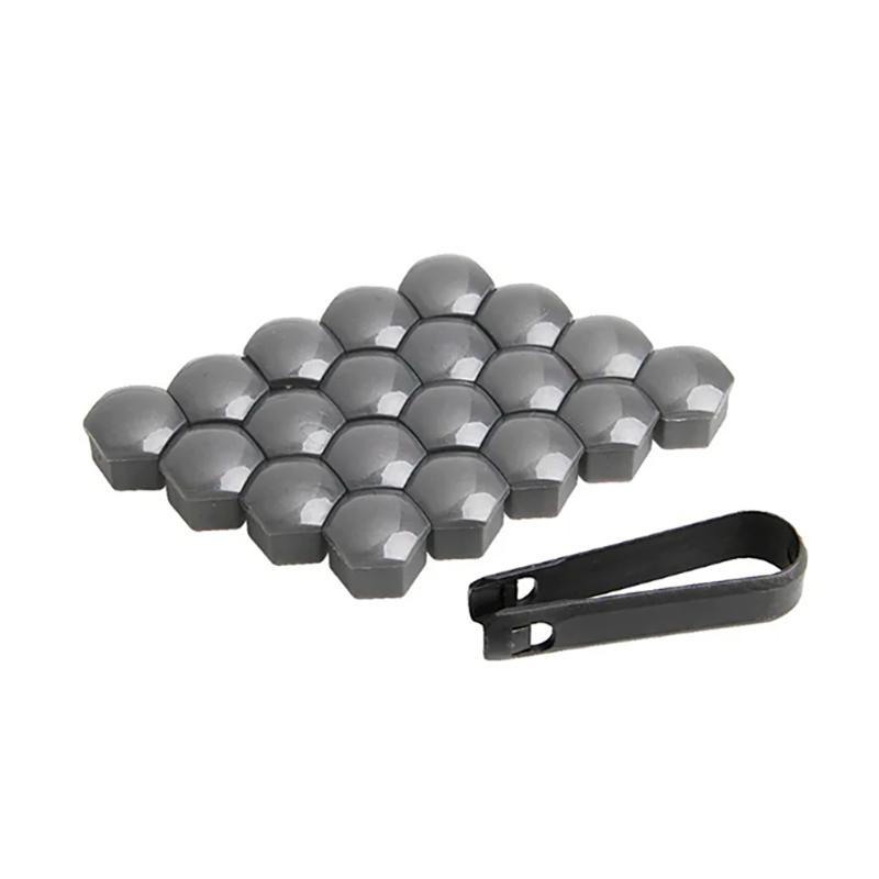 Защитные пластиковые крышки на колесные гайки 17 мм серые