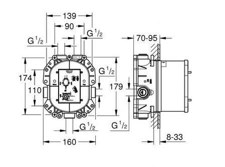 Grohe 35500000 Rapido T термостат універсальний, фото 2