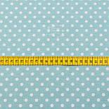 Поплин с горошком 6 мм, фон - пыльная мята, ширина 240 см (№3063), фото 2