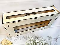 """Деревянная коробка для роутера на стену """"Wi-Fi"""" 40х20х8 см Светлое дерево, фото 3"""
