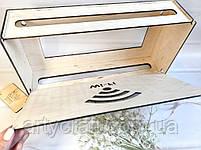 """Деревянная коробка для роутера на стену """"Wi-Fi"""" 40х20х8 см Светлое дерево, фото 4"""