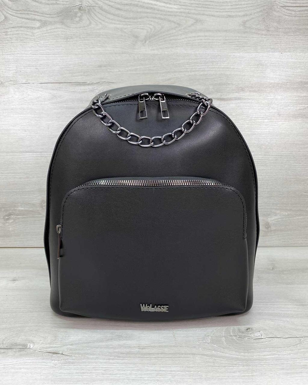 Жіночий рюкзак WeLassie «Андрес» чорний 46704