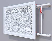 Декоративная решетка на батарею SMARTWOOD | Экран для радиатора | Накладка на батарею 600*600 Короб, Без