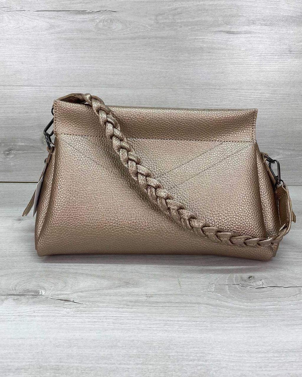 Женская сумка WeLassie   «Paris» золотая 59513