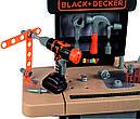 Детский набор инструментов Smoby Смоби Мобильная мастерская 37 аксессуаров Black+Decker 360315, фото 6