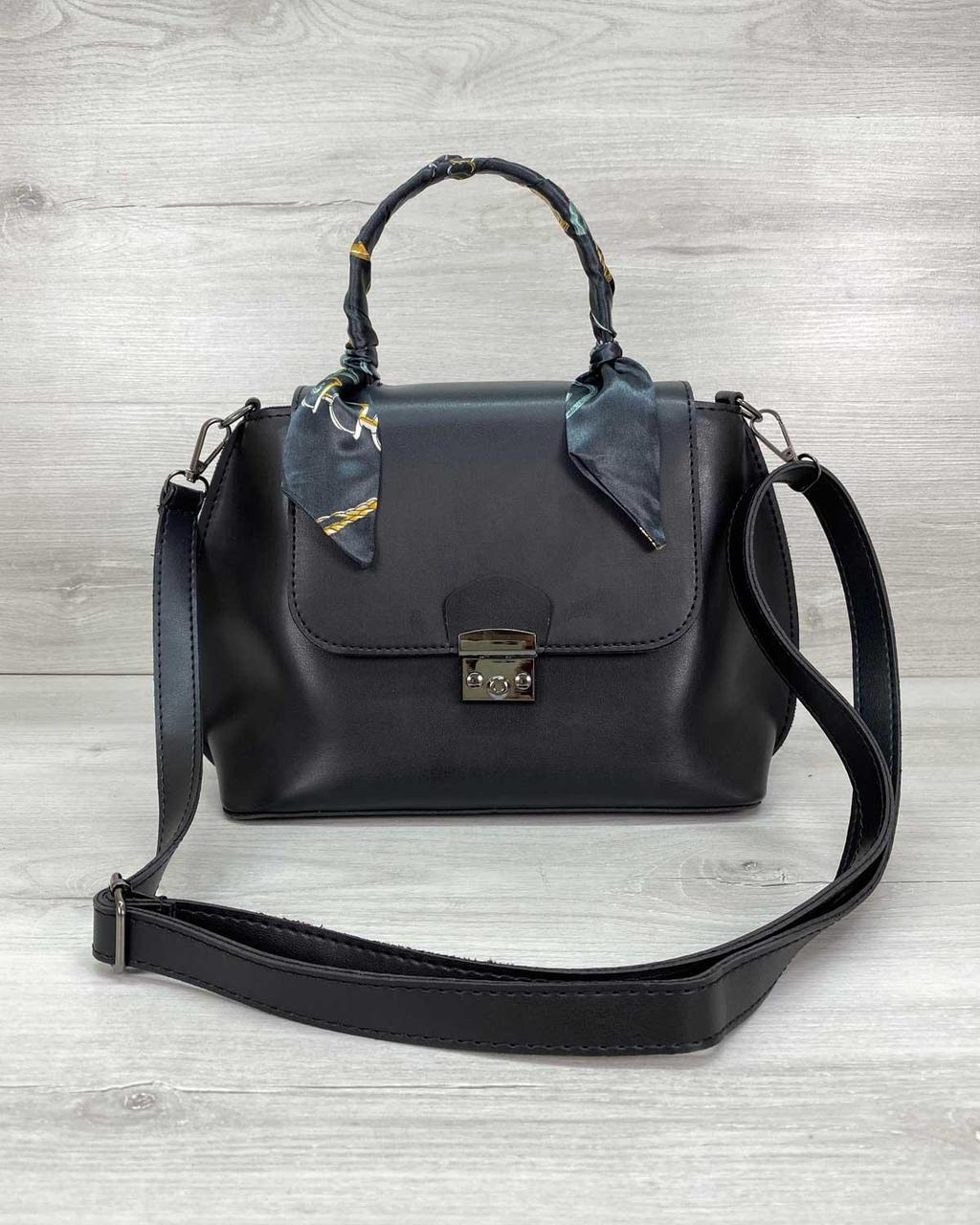 Женская сумка клатч WeLassie  «Лиам» черная 62104