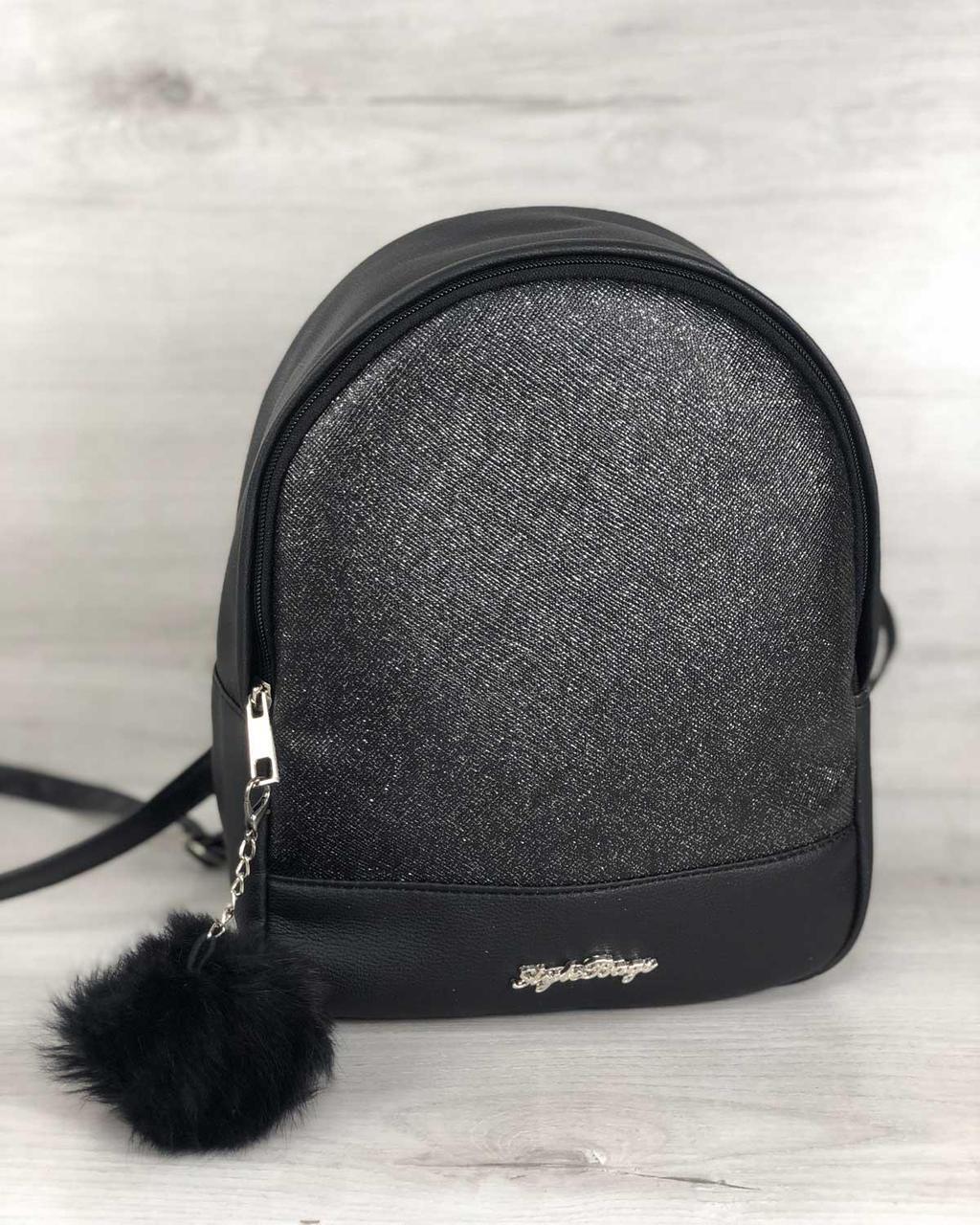 Рюкзак WeLassie  «Мэри» черный темно-серый 45351