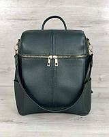 Сумка рюкзак женский WeLassie «Фроги» зеленого цвета 46008