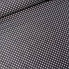 Тканина в горошок 2 мм білий на чорному, ш. 160 см
