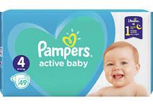 Подгузники Pampers Active Baby размер 4 (9-14 кг) 49 шт.