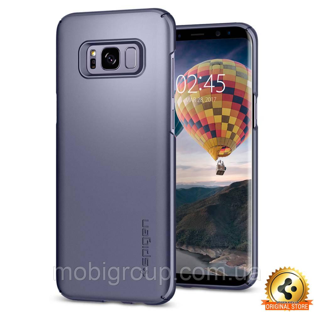 Чохол Spigen для Samsung S8 Plus Thin Fit, Orchid Gray