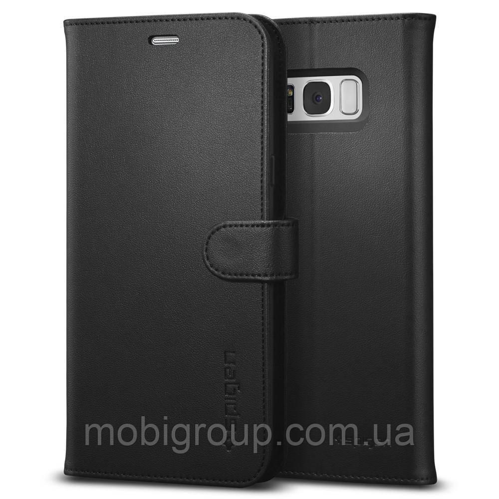 Книжка-Чохол Spigen для Samsung S8 Plus Wallet S, Black