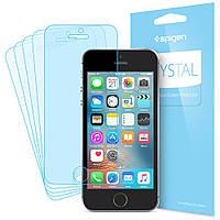 Защитная пленка Spigen для iPhone SE/5S/5 (041FL20165) + Бесплатная поклейка, фото 1