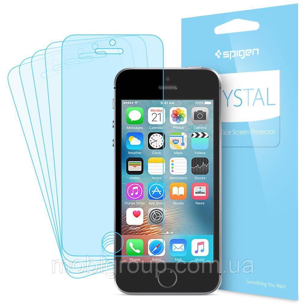 Защитная пленка Spigen для iPhone SE/5S/5 (041FL20165) + Бесплатная поклейка