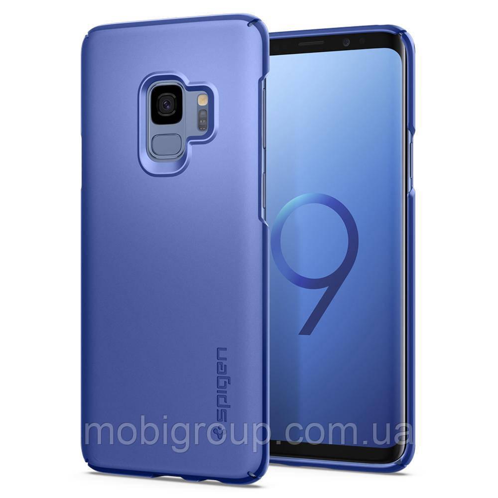Чехол Spigen для Samsung S9 Thin Fit, Coral Blue