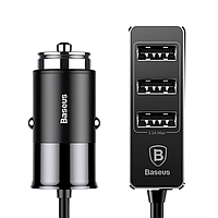 АЗУ Baseus Enjoy Together Four Interfaces Output Patulous Car Charger 5.5A, Black (CCTON-01)