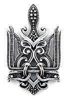 """Кулон """"Тризуб Королівський"""", ювелірний сплав ЦАМ, посріблений"""