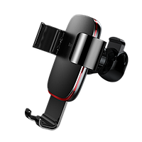 Автодержатель Baseus Metal Age Gravity CarMount, Black (SUYL-D01)