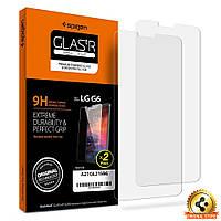 Защитное стекло Spigen для LG G6/G6+ + поклейка в подарок