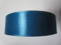 Лента атлас 2,5 см джинсовый синий