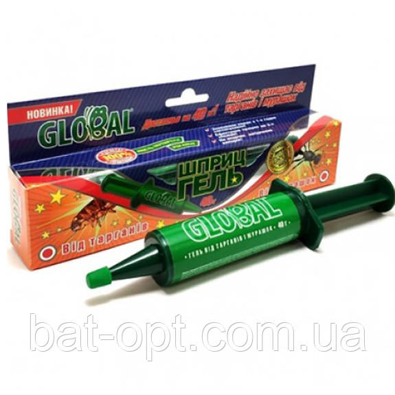 Гель от тараканов и муравьев Global в виде шприца 40г
