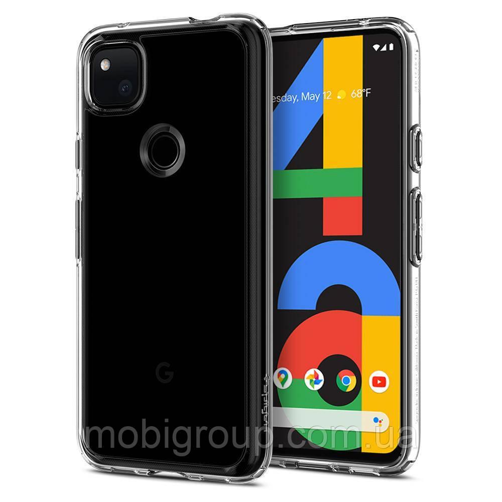 Чохол Spigen для Google Pixel 4a Hybrid Ultra, Crystal Clear (ACS01012)