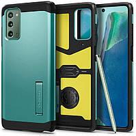 Чехол Spigen для Samsung Galaxy Note 20 - Tough Armor XP, Green (ACS01581)