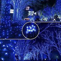 Гірлянда 100LED 10м флеш синя