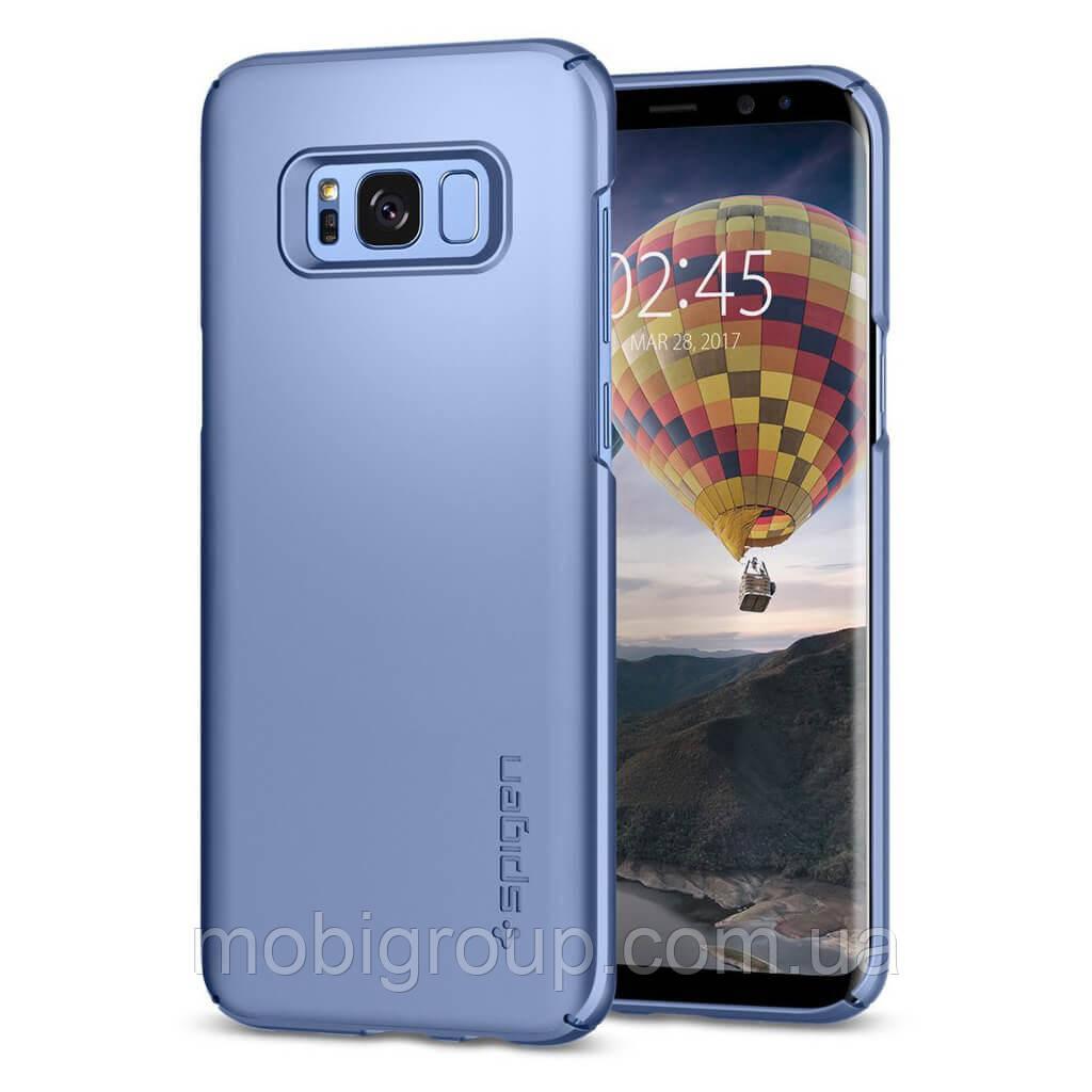 Чохол Spigen для Samsung S8 Thin Fit, Blue Coral