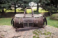 Дорожная сумка кожаная Бизон коричневая