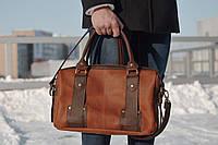 Мужская кожаная сумка для документов и ноутбка, фото 1