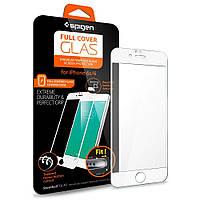 Защитное стекло Spigen для iPhone 6S / 6 Full Cover, White (SGP11590)