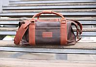 Сумка дорожная кожаная  Sport&Travel DS коричневая