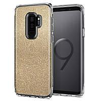 Чехол Spigen для Samsung S9 Plus Slim Armor Crystal Glitter, Gold Quartz, фото 1