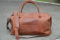 Коричневая дорожная сумка, Спортивная сумка из винтажной кожи