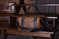 Зеленая дорожная сумка, Спортивная сумка из винтажной кожи