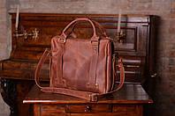 """Кожаная мужская сумка  """"StyleMen""""  коричневого цвета"""