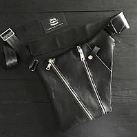 """Мужская кожаная  сумка """"Blade""""  черного цвета"""