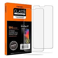 Защитное стекло Spigen для OnePlus 5T + поклейка в подарок