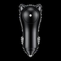 АЗУ Baseus Adorkable Cute Cat 2USB 3A, Black (CCALL-DM01), фото 1