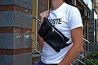 Мужская поясная сумка BANDIT, Кожаная бананка через плечо