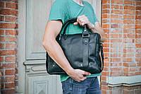 Мужская сумка кожаная StyleMen черная, фото 1