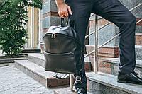 Рюкзак кожаный  Матрикс черного цвета